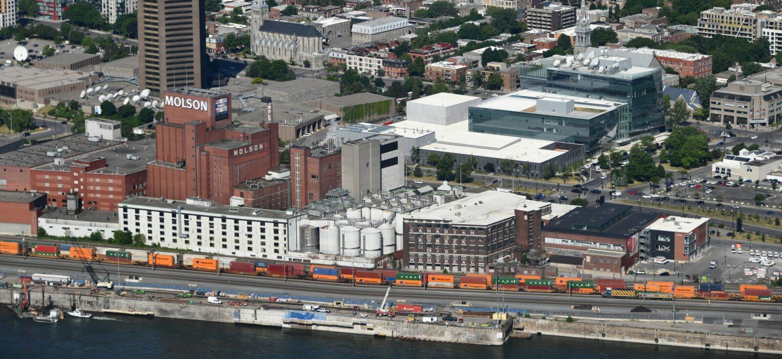 Complexe de la brasserie Molson à Montréal
